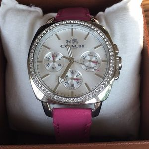 Coach watch - pink